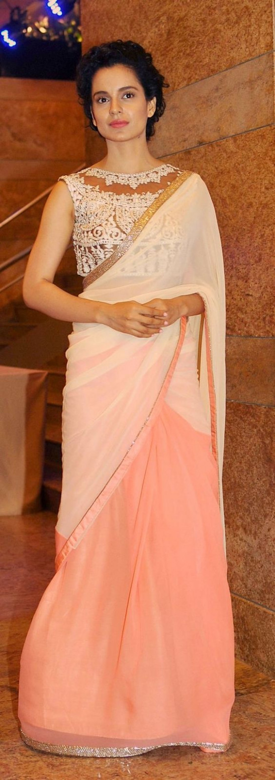Which colour lipstick suits a peach-coloured sari? - Quora - peach colour saree