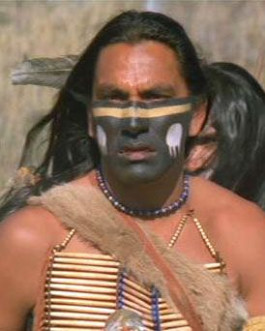 wind in his hair dances with wolves - love him.  Native