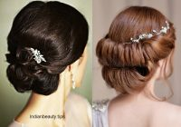 30 Elegant Bridal Updo Hairstyles – Indian Beauty Tips – indian bridal updo