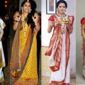 30 Types of Saree Draping from Different States – Suzy Smith – bollywood mumtaz style saree draping