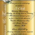 50th Wedding Anniversary Invitation Wording In Hindi ..