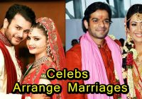 8 TV and Bollywood Celebrities who had an Arrange Marriage ..