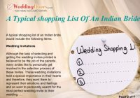 A typical shopping list of an indian bride – indian bridal list of things to buy