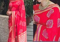 Aishwarya Red Georgette Replica Saree At Delhi – bollywood designer saree new delhi delhi