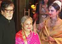 Amitabh Bachchan And Rekha At Neil Nitin Mukesh Wedding ..