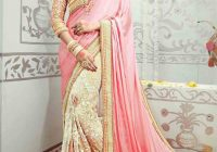 beautiful pink Indian bridal wedding and party wear saree ..