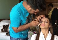 BEHIND THE SCENE of sans khan makeup hair / waja tum ho ..