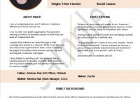 Biodata Format For Marriage (7 Samples + 5 Bonus Word ..