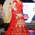 Bipasha Basu in red lehenga at Marigold watches fashion ..