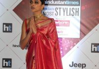 Bollywood Actress Deepika Padukone Red Saree Photos ..
