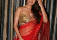 Bollywood Actress Payal Rohatgi in Red Saree Photos ..