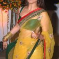 Bollywood Actress Rani Mukherjee in Yellow Transparent ..