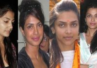 Bollywood Actresses Caught without MakeUp in public ..