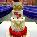 Bollywood Inspired Wedding Cake – cake by Paisley Petals ..
