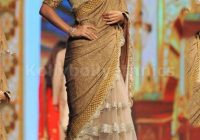 Bollywood Style Parizad Net and Bhagalpuri Saree in Beige ..