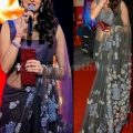 Bollywood Style Sridevi Net Saree in Gray color   Net ..