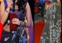 Bollywood Style Sridevi Net Saree in Gray color | Net ..