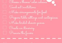 Bridal Shower Checklist | AllFreeDIYWeddings