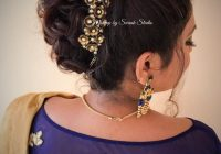 Bridal updo for reception by Swank. South Indian bride ..