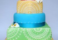 Bright Bollywood Theme Wedding Cake – bollywood wedding cake