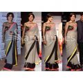 Buy Bollywood Designer Sarees-kajol Grey Lakme Fashion ..
