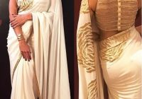 Buy Bollywood Style Shilpa shetty white and gold saree in ..