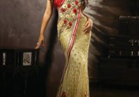 Buy Raveena Tondon Style Golden Color Net Bollywood Saree ..