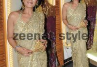 Celebrity Fashion Style: Raveena Tandon Golden Embroidered ..