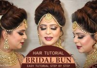 Easy Bridal BUN Hairstyle Tutorial | Step by Step Bridal ..