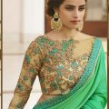 Green Designer Saree in 2018 | Designer blouse | Pinterest ..