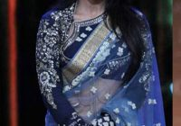 Grey Blue Net Bollywood Saree – Temple of Sarees – bollywood grey saree