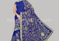 Haute-couture Bollywood dance Saree dark blue ..