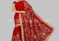 Haute-couture Bollywood dance Saree red ..