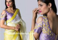 Hottest Trend: Cold Shoulder Saree Blouse Designs – South ..