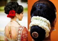 Indian Bridal Bun Hairstyles with Flowers – Indian Beauty Tips – indian bridal bun hairstyles