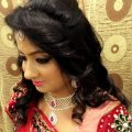 Indian bride's bridal reception hair. Hairstyle by Swank ..