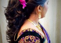 Indian bride's bridal reception hairstyle by Swank Studio ..