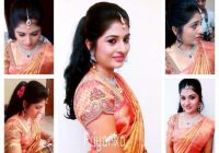 Indian bride wearing bridal hair, saree and jewellery ..