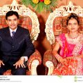 Indian Marriage Reception stock photo. Image of seated ..