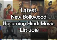 Latest New Bollywood Upcoming Hindi Movie List 2018 – bollywood new movie name 2018