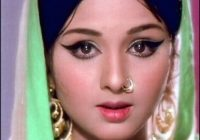 Leena Chandavarkar, a Bollywood actress, in the 60s ..