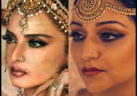 Makeup Tutorial Bollywood Icon Rekha Umrao Jaan pt 3 – YouTube – bollywood actress makeup tutorial