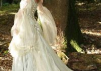 Medieval. Princess. Bride. White. Flowing. Dress. Forest ..