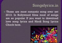 Most Romantic Bollywood Hindi Movies Songs – bollywood wedding songs lyrics