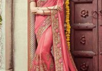 new pink Indian bridal wedding and party wear saree ..