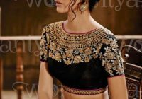 Pakistani saree latest ethnic wear blouse designs 2017 – bollywood saree blouse designs 2017