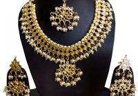 Polki kundan gold Indian bridal Necklace earrings Set ..