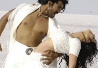 Ram Charan Teja and Kajal in a still from Telugu movie ..