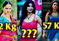 Really Shocking Weight Of Famous Tollywood Actresses 2017 ..