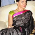 Samantha in black saree at Tollywood cinema channel opening – tollywood cinema